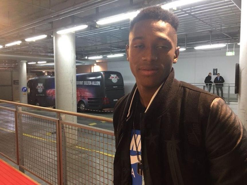 Schnappschuss bei seinem ersten Besuch in der Red-Bull-Arena: Umaro Embalo