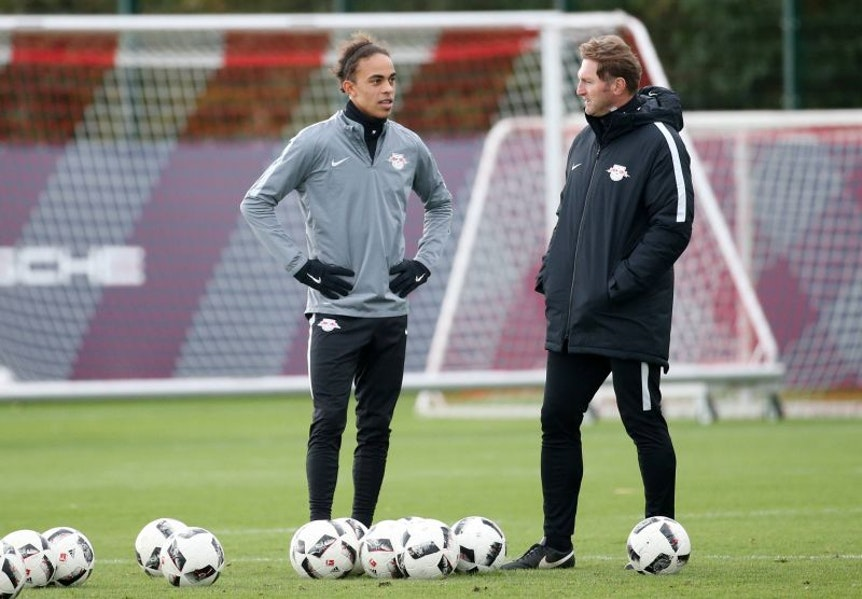 Yussuf Poulsen fühlt sich eigentlich wohl bei RB Leipzig und Ralph Hasenhüttl.