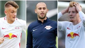 Neun Spieler stehen bei RB Leipzig noch unter Vertrag, spielen aber woanders.