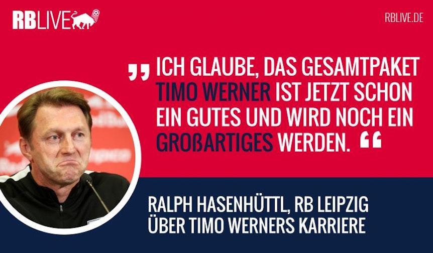Ralph Hasenhüttl wünscht Timo Werner eine Nominierung von Jogi Löw für die Nationalmannschaft.
