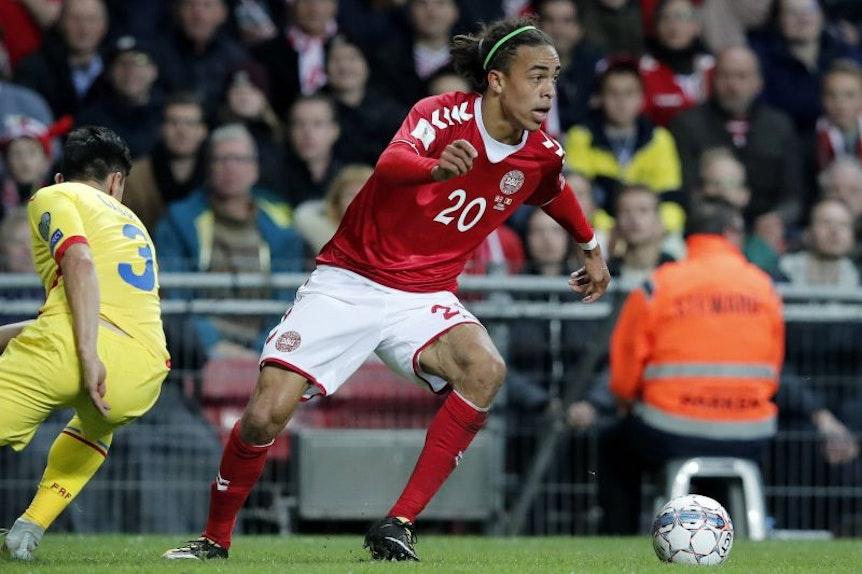 Yussuf Poulsen darf mit Dänemark zur WM fahren. Dafür musste man sich gegen Irland durchsetzen.