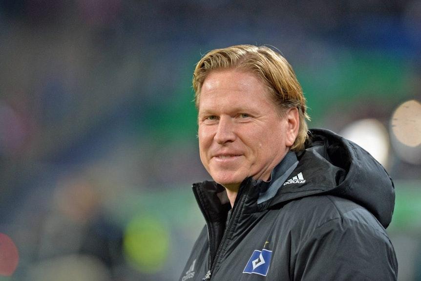 Markus Gisdol ist mit dem Hamburger SV vor dem Spiel gegen RB Leipzig im Aufschwung.