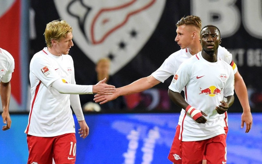 Willi Orban, Naby Keita und Emil Forsberg landeten für RB leipzig in der Kicker-Elf der Hinrunde.