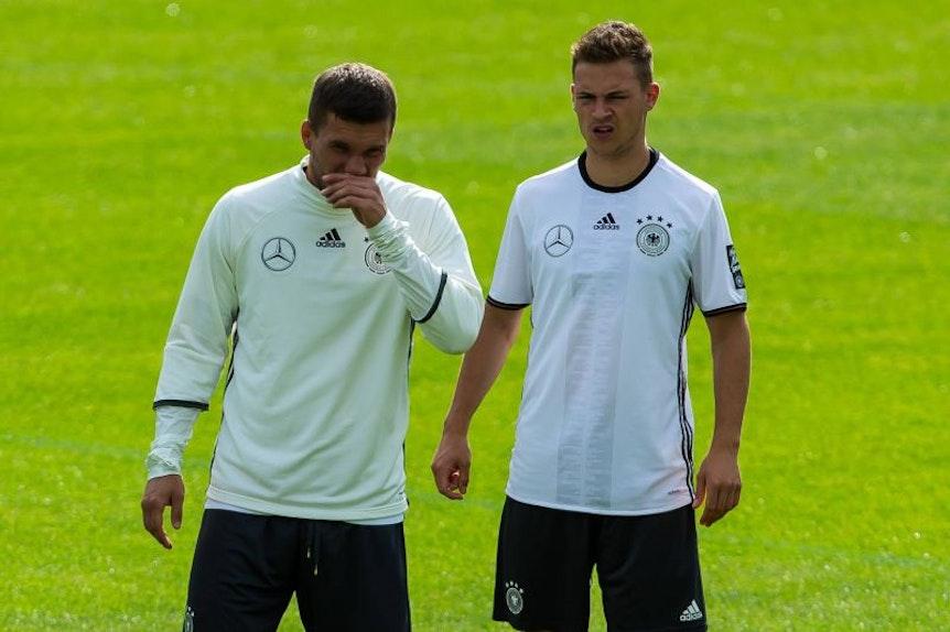 Lukas Podolski rät Joshua Kimmich, zu RB Leipzig zurückzukehren.