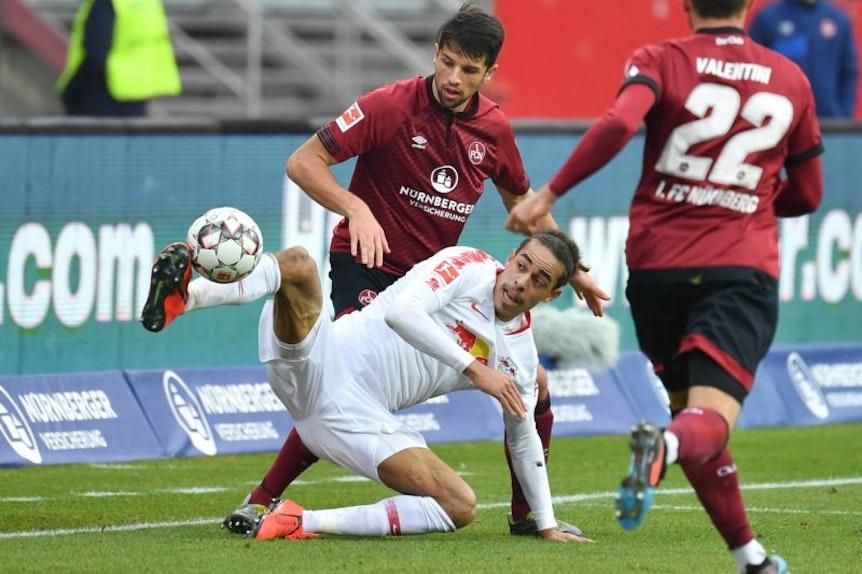 Nicht immer schön, aber erfolgreich. Yussuf Poulsen freut sich über die neuen Qualitäten von RB Leipzig.