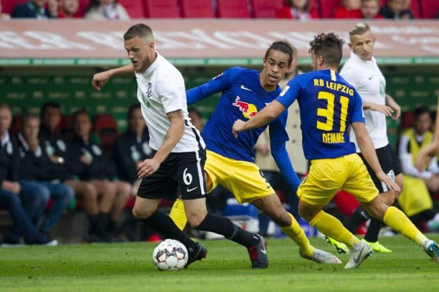 Diego Demme und Yussuf Poulsen könnten beide gegen Augsburg fehlen.