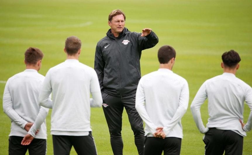 Ralph Hasenhüttl ist zufrieden mit seinem RB Leipzig nach dem Emirates Cup.
