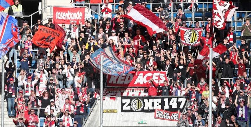 RB-Fans hatten nach Hoffenheim neben Pyrotechnik auch Gesänge mitgebracht.
