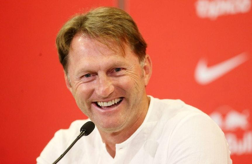 Pressekonferenz bei RB Leipzig mit Ralph Hasenhüttl.