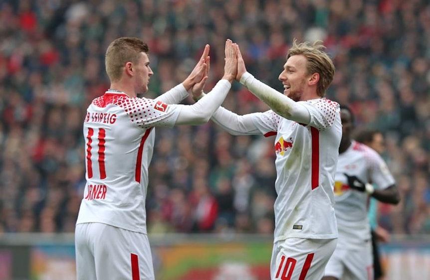 Timo Werner und Emil Forsberg von RB Leipzig treffen bei der WM aufeinander.