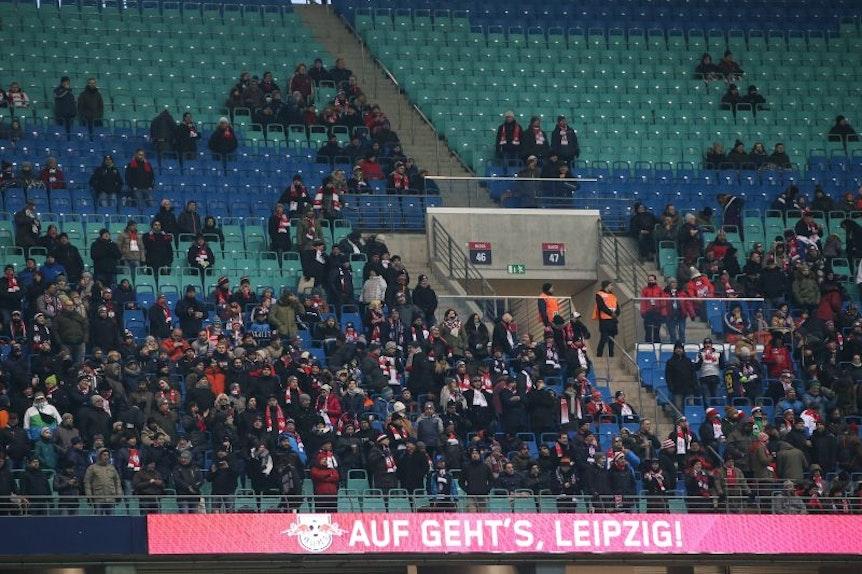Schon gegen den FC Köln blieben viele Plätze bei RB Leipzig leer.