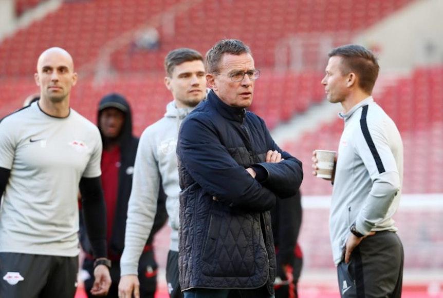 Ralf Rangnick und sein Trainerteam können sich bei RB Leipzig vor allem nach der Pause auf die starke Defensive verlassen.
