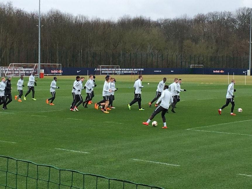 Training bei RB Leipzig vor dem Europa-League-Spiel in St. Petersburg.