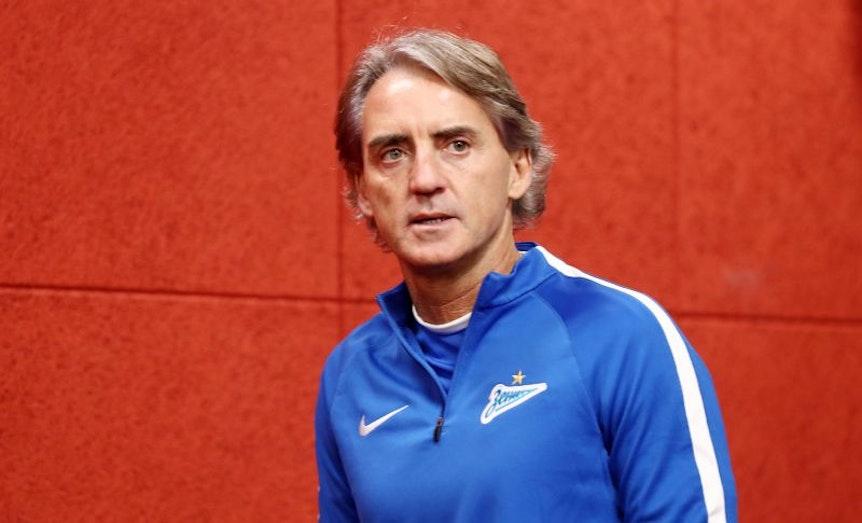Zenit-Trainer Roberto Mancini vor dem Spiel gegen RB Leipzig.