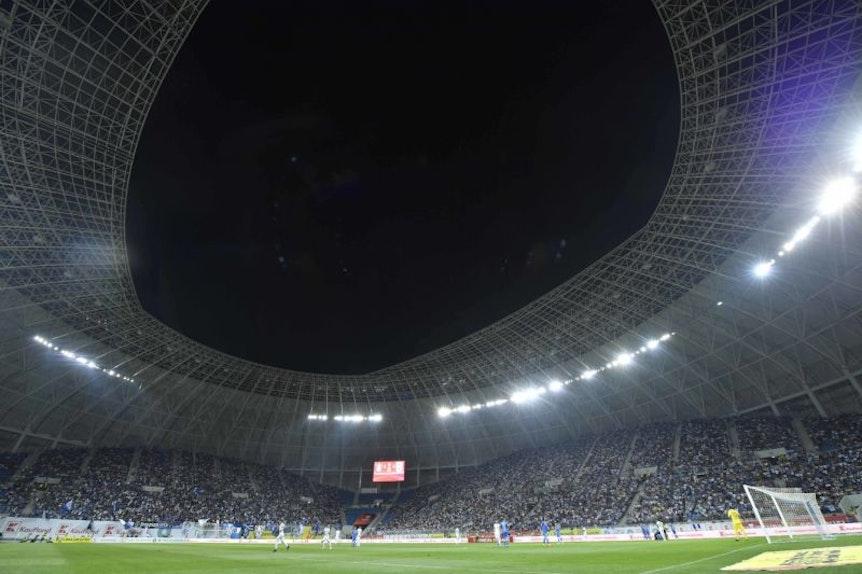 Keine TV-Bilder: Wer am Donnerstag nicht im Ion-Oblemenco-Stadion in Craiova dabei ist, sieht auch nix vom Spiel
