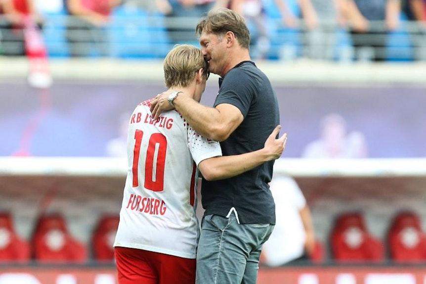Ralph Hasenhüttl möchte Emil Forsberg bei RB Leipzig noch länger halten.