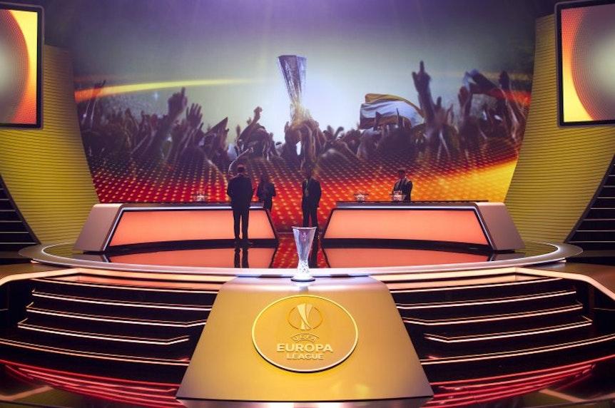 Auslosung des Achtelfinales in der Europa League in Nyon.
