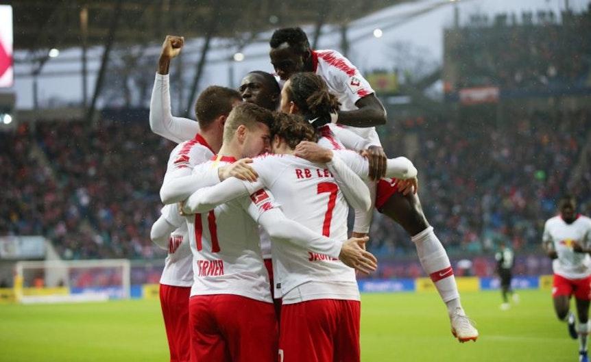 Starke Mannschaftsleistung: Gegen Mönchengladbach leistete sich RB Leipzig keine Ausfälle