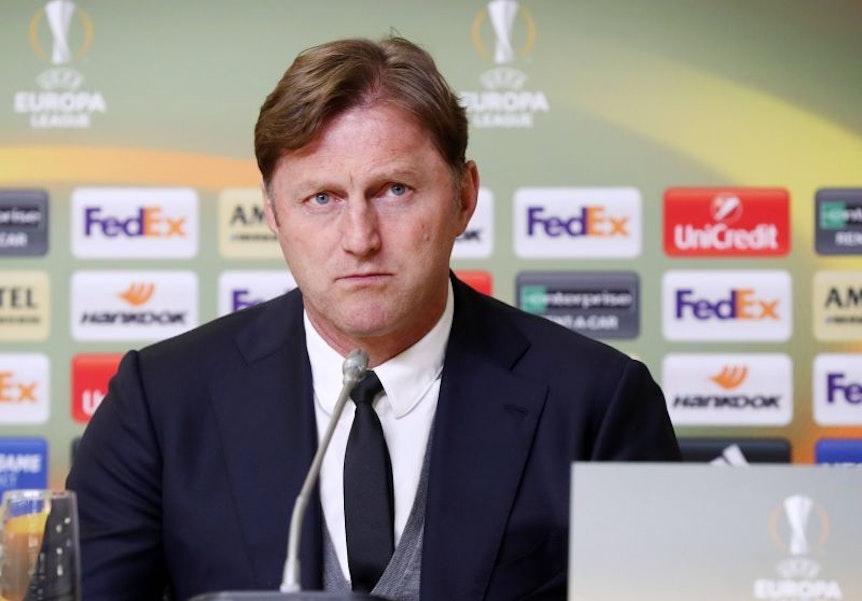 Ralph Hasenhüttl steht mit RB Leipzig gegen Zenit St. Petersburg vorm Einzug ins Viertelfinale der Europa League.