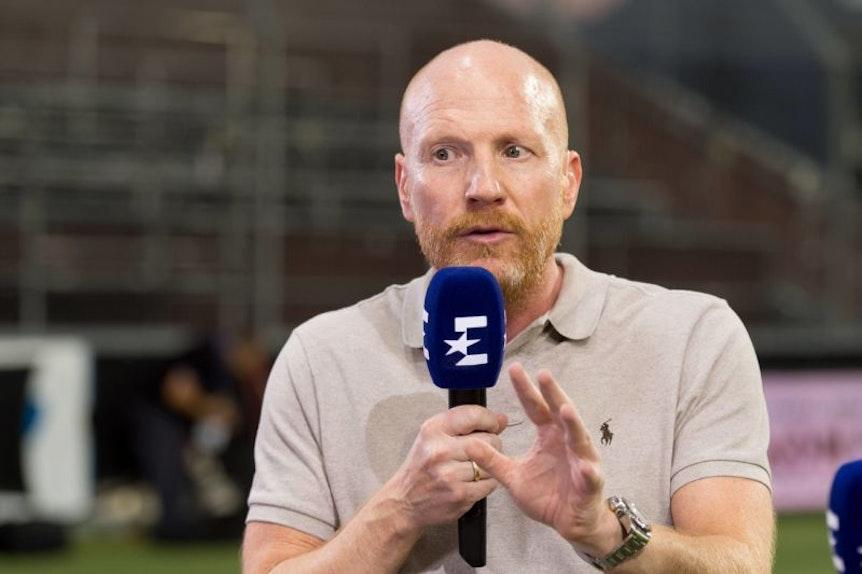 Matthias Sammer war bei Eurosport auch beim Spiel zwischen dem Hamburger SV und RB Leipzig wieder nur verpixelt zu sehen.