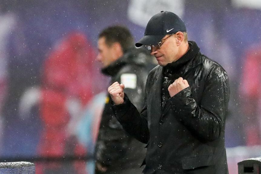 Yes: Ralf Rangnick hatte die Partie gegen Mönchengladbach selbst zum Sechs-Punkte-Spiel ausgerufen und freute sich umso mehr über den Sieg