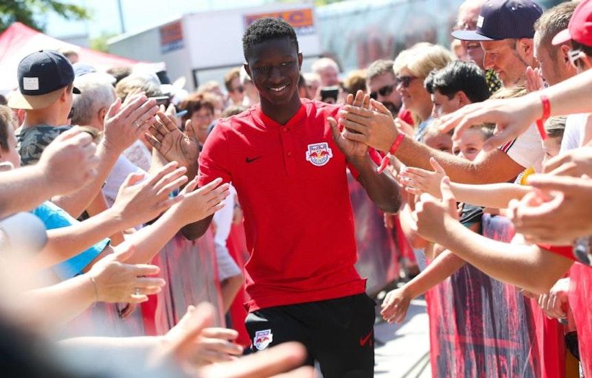 Schüchterner Star in Salzburg: Amadou Haidara bei der Teamvorstellung