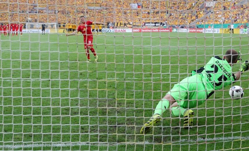Verschoss den entscheidenden Strafstoß für RBL: Kapitän Dominik Kaiser