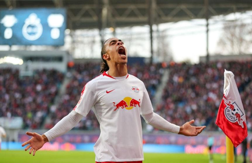 Yussuf Poulsen darf sich bisher über eine gute Saison mit RB Leipzig freuen.