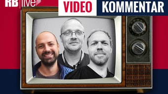 Im RBlive-Videokommentar bewertet das Trio Ullrich Kroemer (hervorgehoben), Matthias Kießling und Martin Henkel (von links) den kommenden Spieltag bei RB Leipzig (Bild: RBlive).