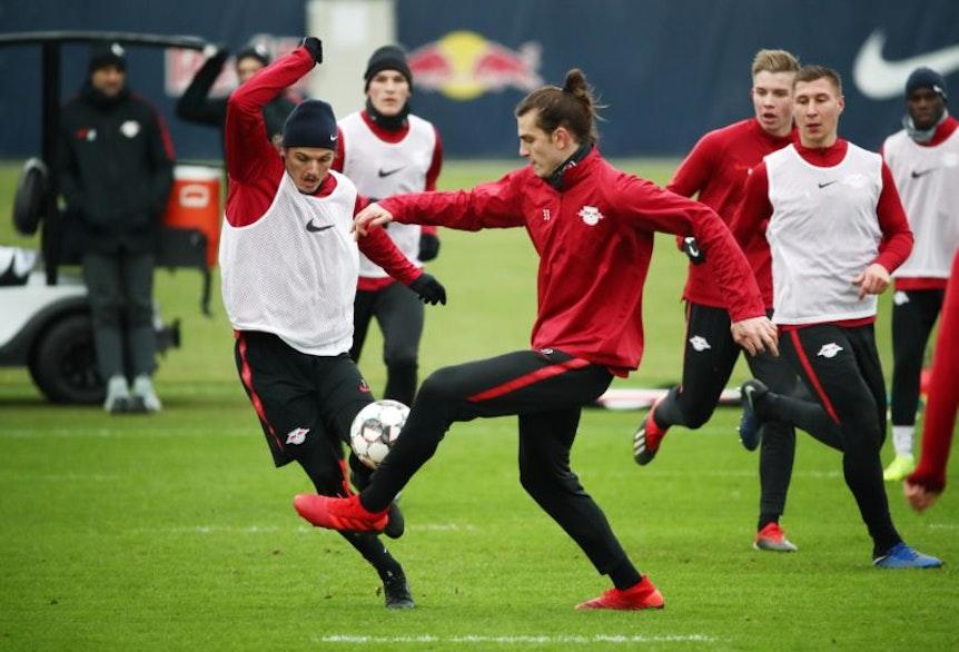 Atinc Nukan macht sich bei RB Leipzig fit für einen neuen Club.