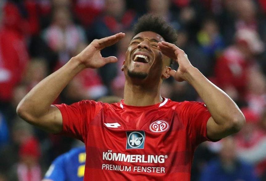 Kann sich an das 1:2 gegen RB Leipzig nicht mehr erinnern. Mainz' Stürmer Karim Onisiwo.