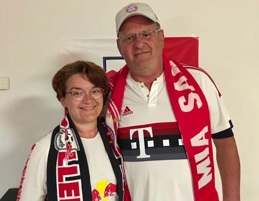 Wollen am Bayern-Spieltag heiraten. Anke und Lutz.
