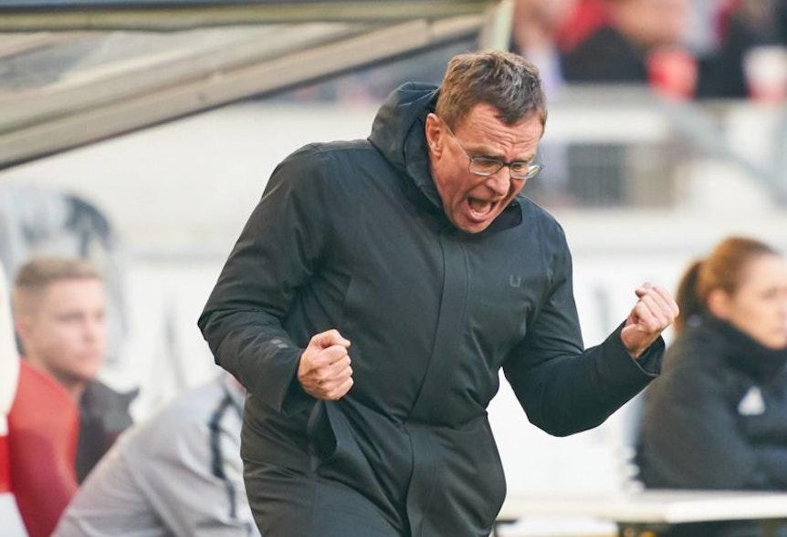 Ralf Rangnick will mit RB Leipzig gegen den FC Augsburg Bretter bohren und jubeln.