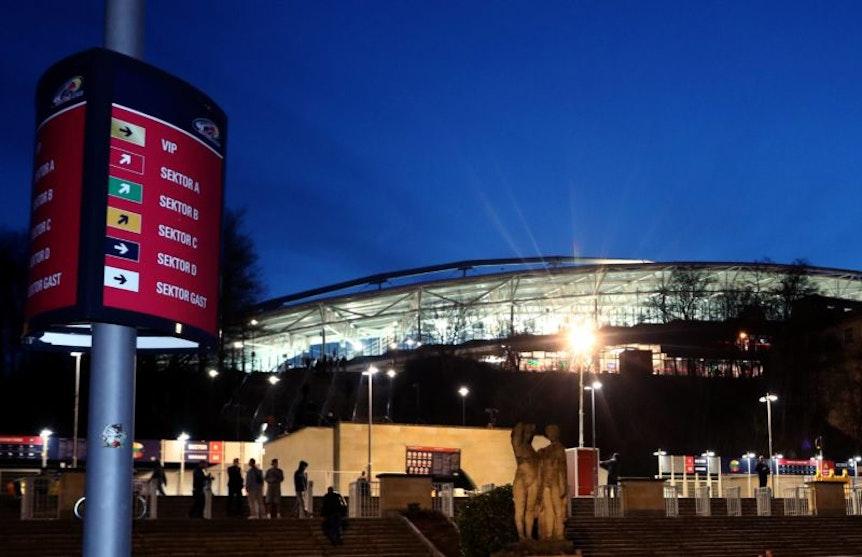 Die Red Bull Arena in Leipzig, Heimspielstätte von RB Leipzig.
