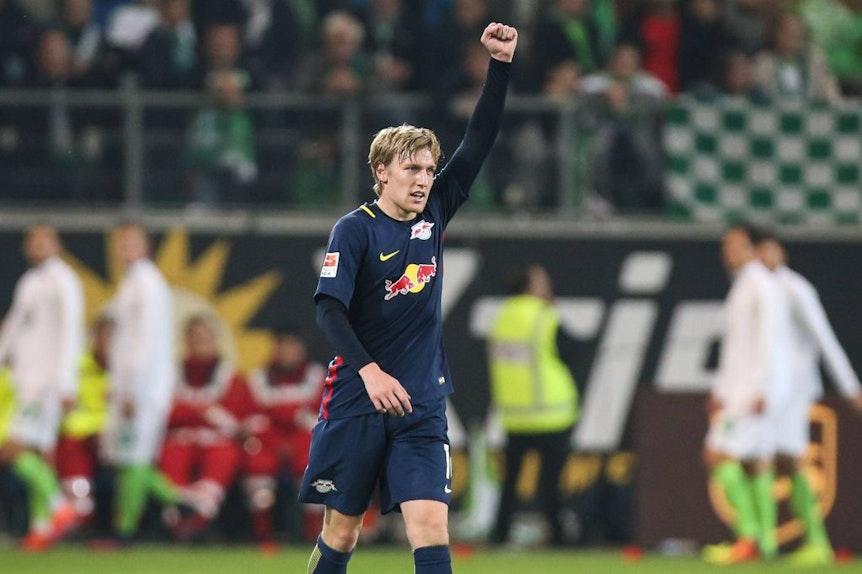 Emil Forsberg, RB- Matchwinner in Wolfsburg.