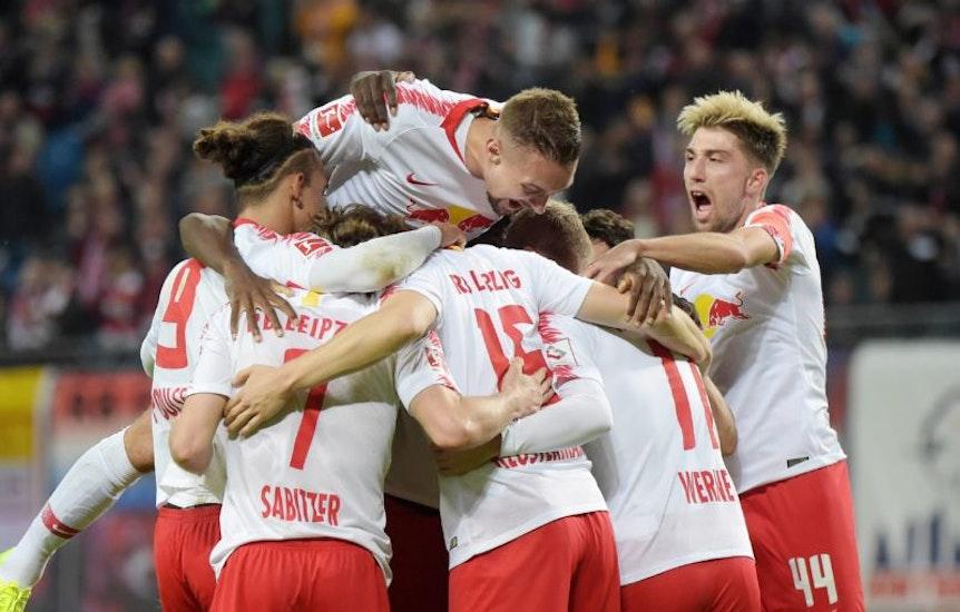 RB Leipzig ist derzeit eine einzige Jubeltraube