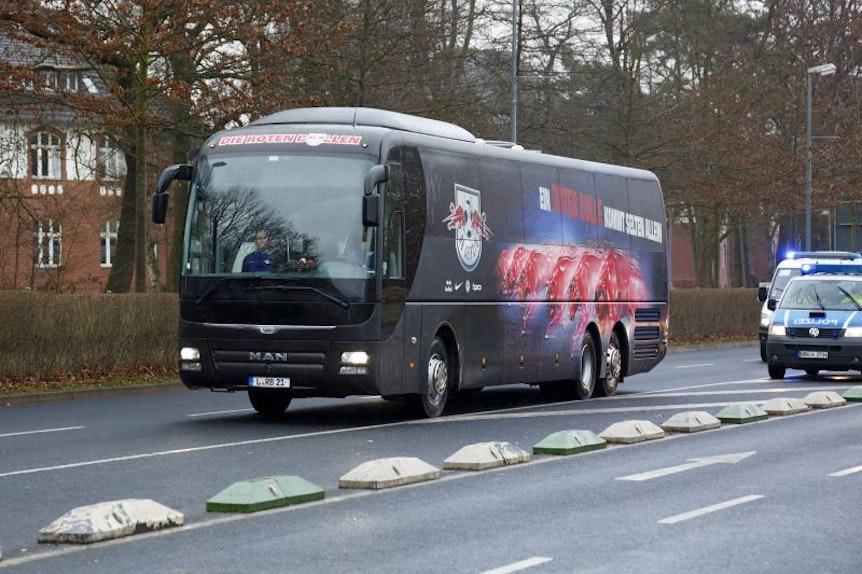 Der Mannschaftsbus von RB Leipzig hatte diese Saison unter der Woche einige Kilometer abzureißen.