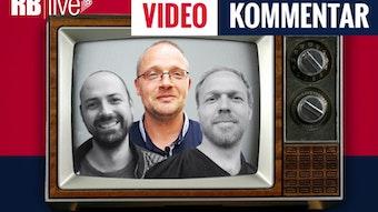 Im RBlive-Videokommentar bewertet das Trio Ullrich Kroemer, Matthias Kießling (hervorgehoben) und Martin Henkel (von links) den kommenden Spieltag bei RB Leipzig.