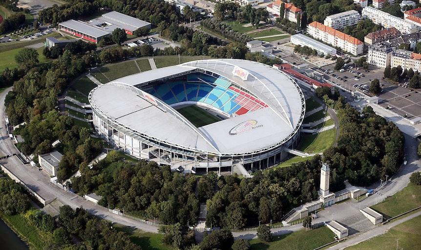 Die Red Bull Arena liegt mitten im Waldstraßenviertel.