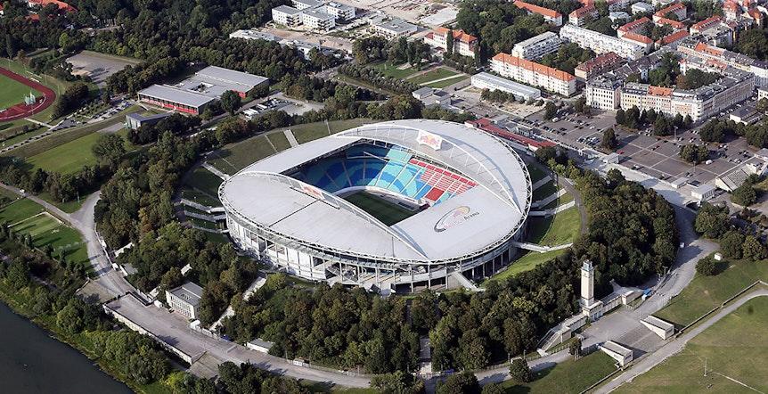Die Red Bull Arena in Leipzig.