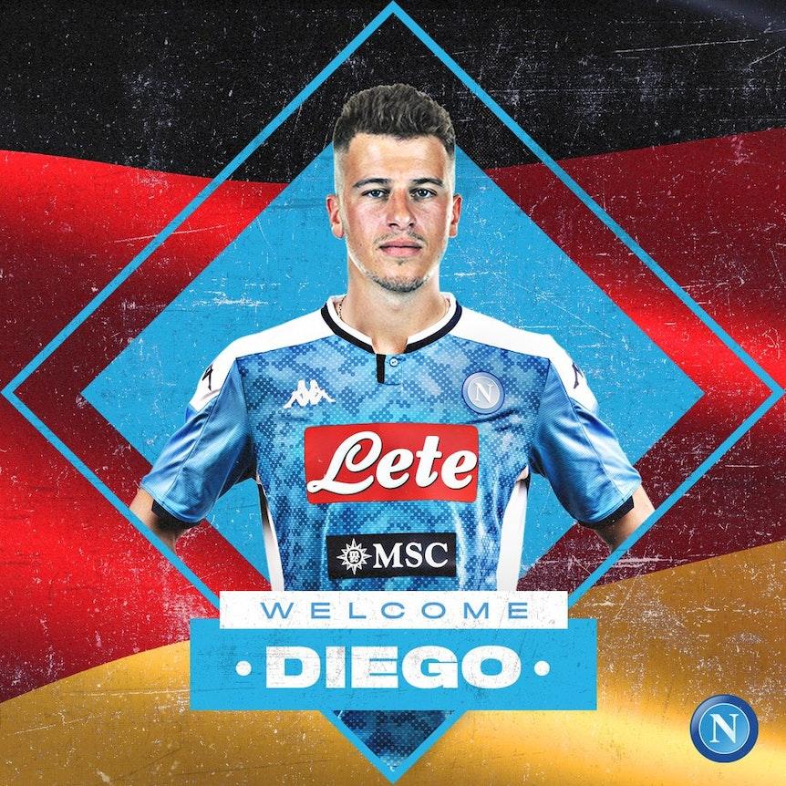 Welcome Diego: Die SSC Neapel stellt Diego Demme offiziell vor.