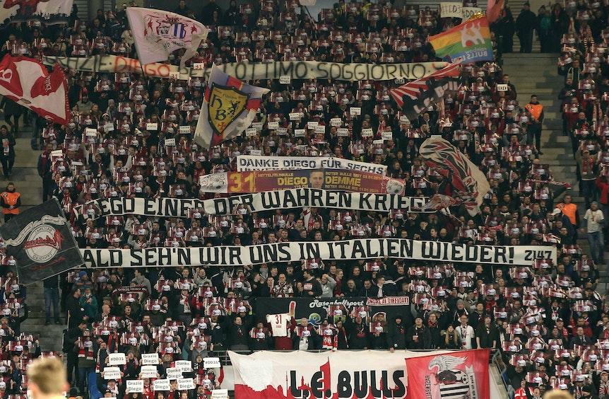 Abschiedssause für Diego Demme im Leipziger Stadion.