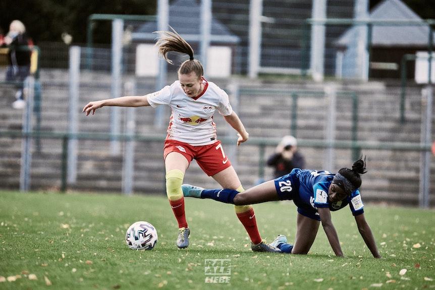 Madlen Frank gehört seit der Gründung 2016 zur Damenmannschaft von RB Leipzig