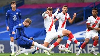 Hockschuss: Timo Werner trifft gegen Southampton.