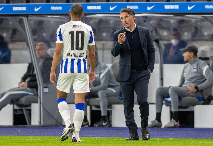 Trainer Bruno Labbadia setzt in Leipzig auf Ex-RB-Stürmer Matheus Cunha.