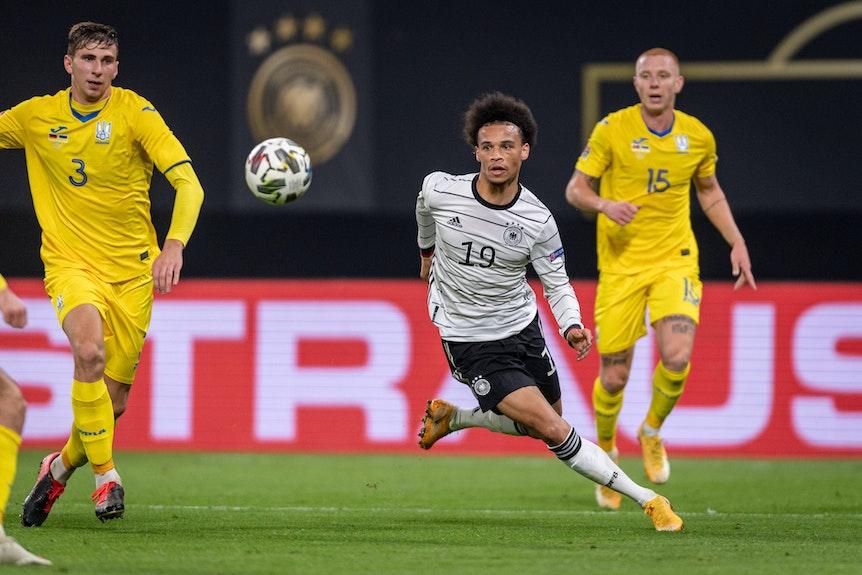Einer der auffäligsten Akteure beim Sieg gegen die Ukraine: Bayern Münchens Leroy Sané
