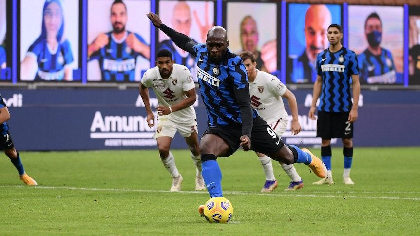 Inter Mailands Stürmer Romelu Lukaku war im Duell mit dem FC Turin mit zwei Treffern maßgeblich am Sieg der Italiener beteiligt.