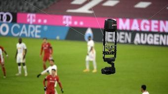 Alles eingefangen von der Flying Cam: RB Leipzig beim Auftritt gegen Bayern München.