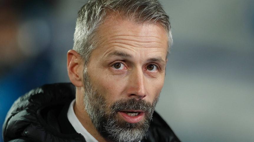 Marco Rose, Trainer der Gladbacher Borussia, hier am 9. Dezember 2020 in Madrid, hat sich zu den Wechsel-Gerüchten um seine Person geäußert.