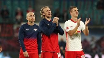 Das Trio, das für Tore sorgen soll: Angeliño, Emil Forsberg und Dani Olmo.